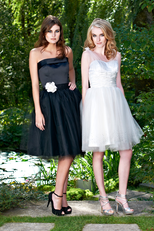 Tulle short strapless cocktail and prom made-to-measure dresses