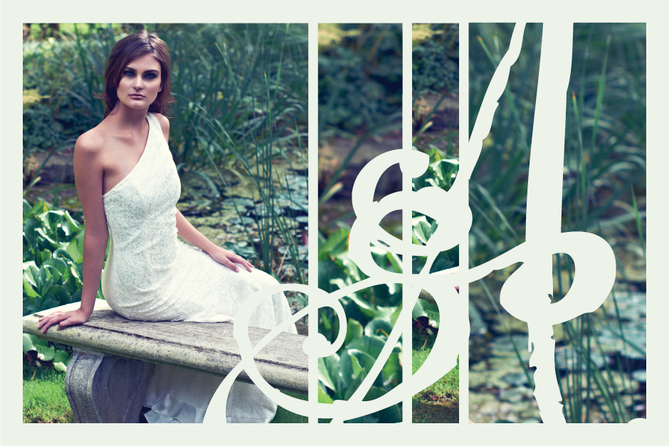 Made-to-measure, ivory, asymmetrical lace gown perfect for an ethereal wedding or an enchanted soiree.